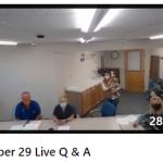 Oct 29, 2020 Live Q & A